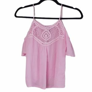 NWT Another Story Crochet Top Cold Shoulder XS